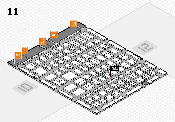 BEAUTY DÜSSELDORF 2017 hall map (Hall 11): stand G53