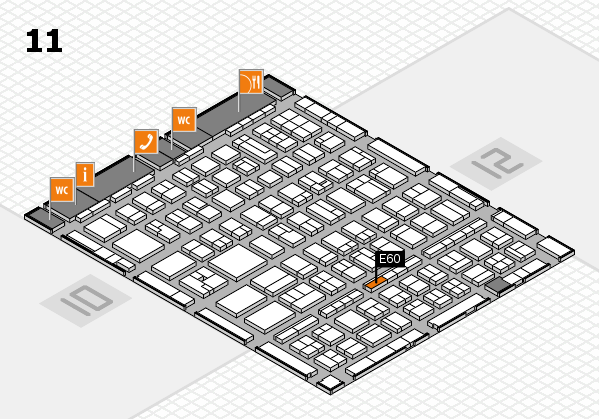 BEAUTY DÜSSELDORF 2017 hall map (Hall 11): stand E60