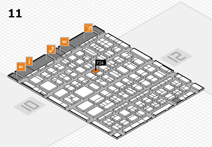 BEAUTY DÜSSELDORF 2017 Hallenplan (Halle 11): Stand F24