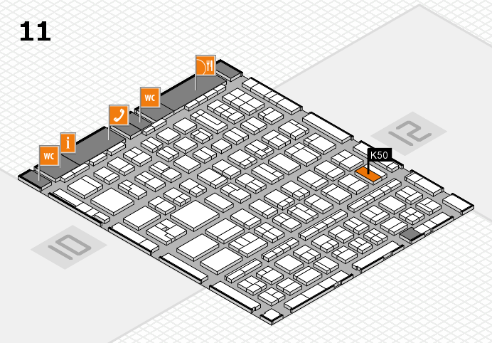 BEAUTY DÜSSELDORF 2017 hall map (Hall 11): stand K50