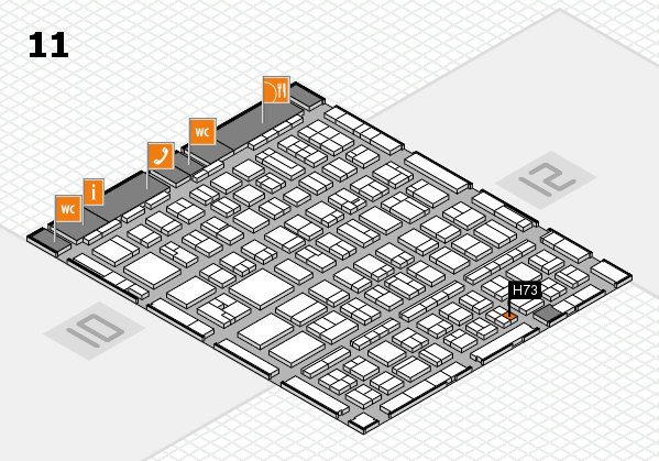 BEAUTY DÜSSELDORF 2017 hall map (Hall 11): stand H73