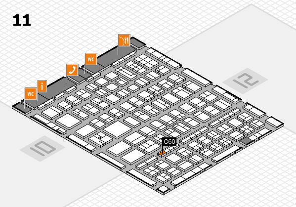 BEAUTY DÜSSELDORF 2017 hall map (Hall 11): stand C60