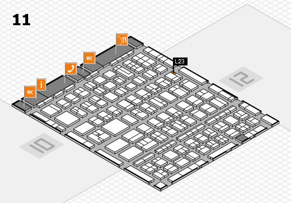 BEAUTY DÜSSELDORF 2017 hall map (Hall 11): stand L23