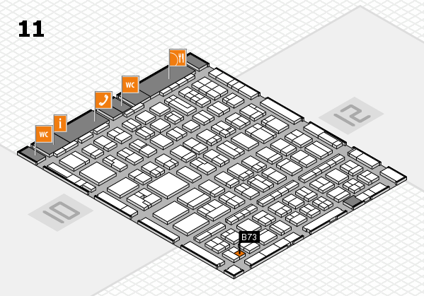 BEAUTY DÜSSELDORF 2017 hall map (Hall 11): stand B73