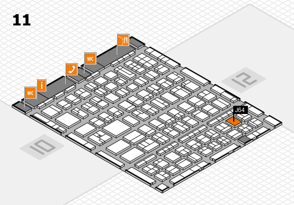 BEAUTY DÜSSELDORF 2017 hall map (Hall 11): stand J64