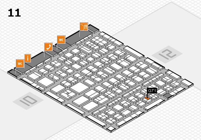 BEAUTY DÜSSELDORF 2017 Hallenplan (Halle 11): Stand G71