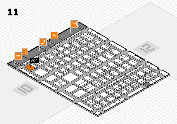 BEAUTY DÜSSELDORF 2017 hall map (Hall 11): stand A04