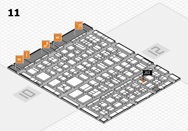 BEAUTY DÜSSELDORF 2017 hall map (Hall 11): stand J63