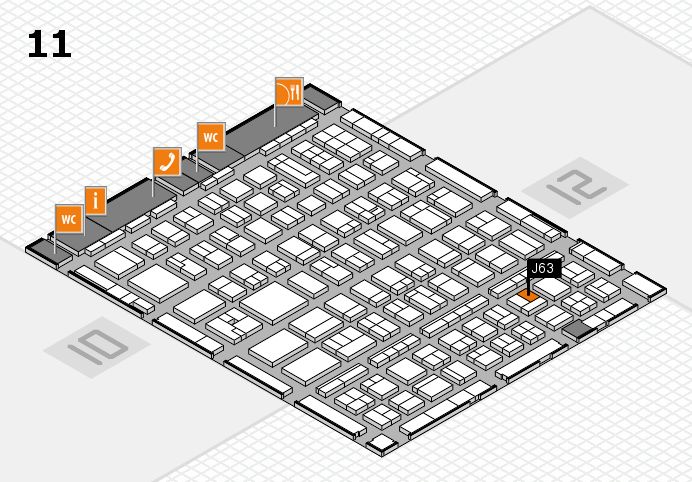 BEAUTY DÜSSELDORF 2017 hall map (Hall 11): stand J63