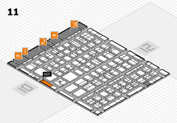 BEAUTY DÜSSELDORF 2017 hall map (Hall 11): stand A25