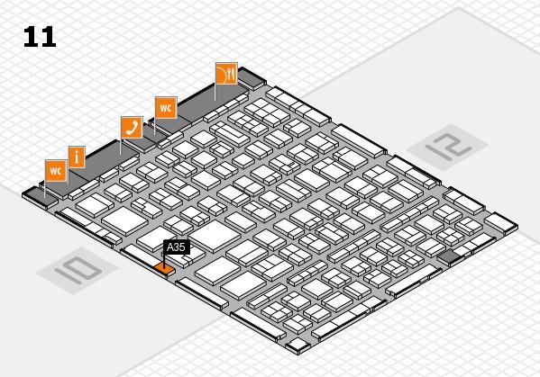 BEAUTY DÜSSELDORF 2017 hall map (Hall 11): stand A35