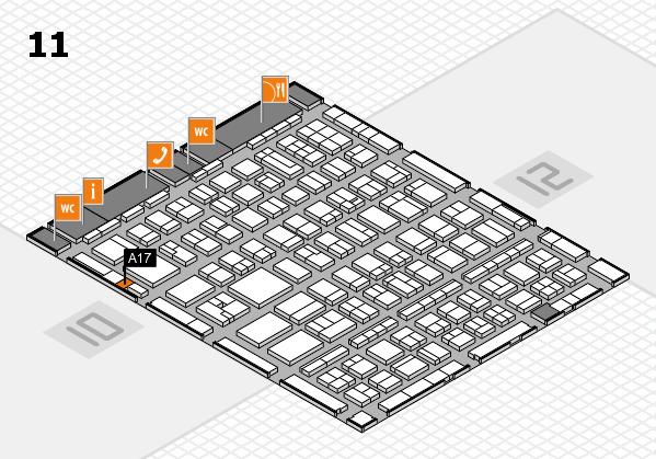 BEAUTY DÜSSELDORF 2017 hall map (Hall 11): stand A17