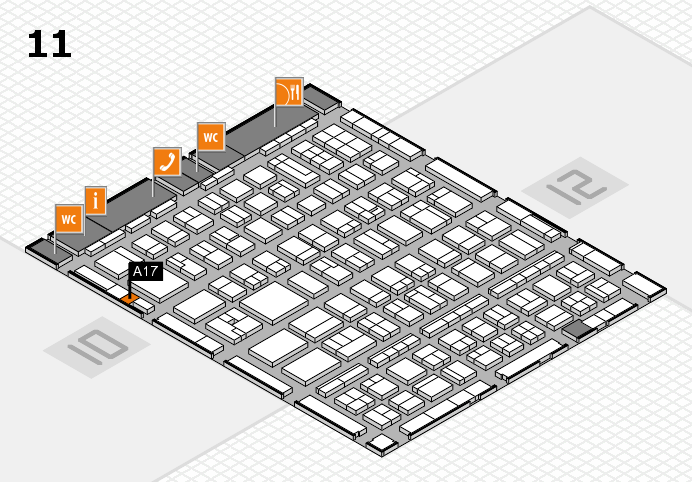 BEAUTY DÜSSELDORF 2017 hall map (Hall 11): stand A17
