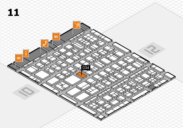 BEAUTY DÜSSELDORF 2017 hall map (Hall 11): stand D34