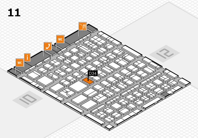 BEAUTY DÜSSELDORF 2017 Hallenplan (Halle 11): Stand D34