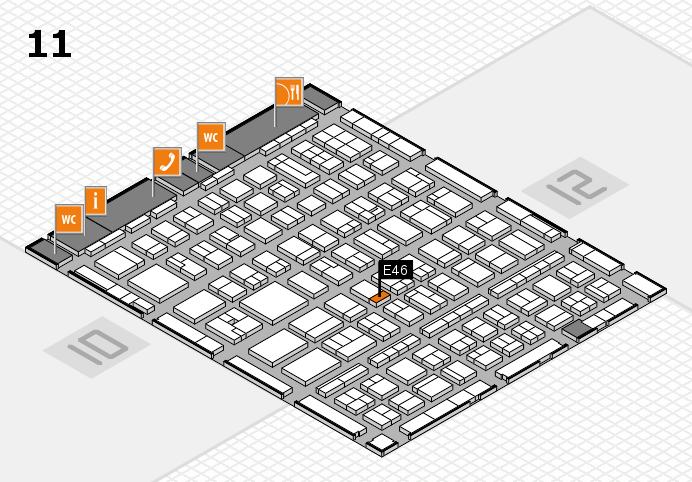 BEAUTY DÜSSELDORF 2017 hall map (Hall 11): stand E46