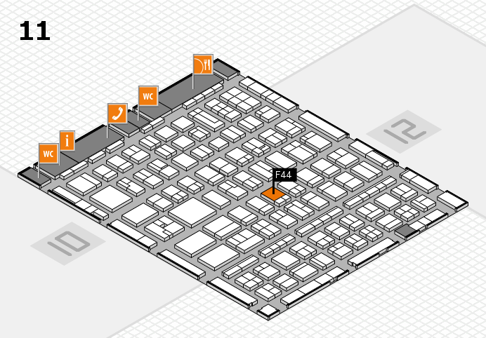 BEAUTY DÜSSELDORF 2017 Hallenplan (Halle 11): Stand F44