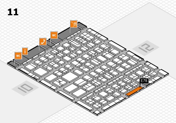 BEAUTY DÜSSELDORF 2017 Hallenplan (Halle 11): Stand E78
