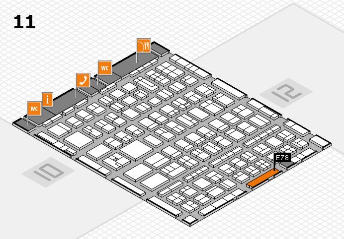BEAUTY DÜSSELDORF 2017 hall map (Hall 11): stand E78
