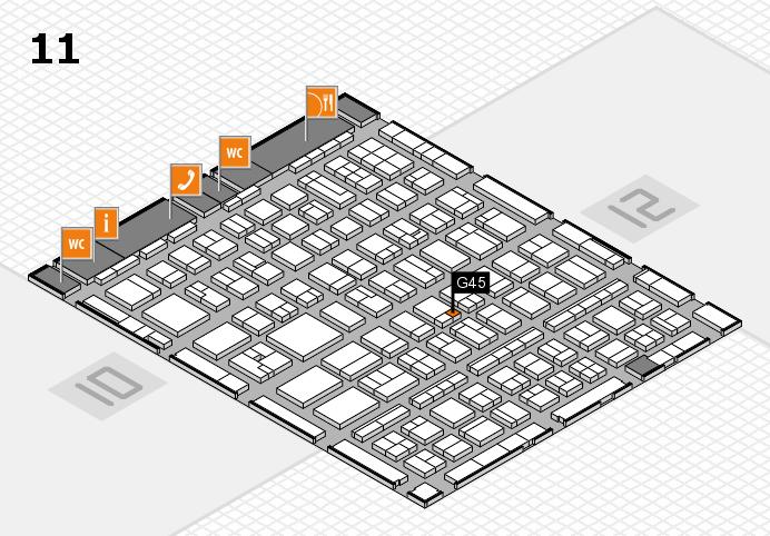 BEAUTY DÜSSELDORF 2017 Hallenplan (Halle 11): Stand G45
