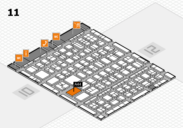 BEAUTY DÜSSELDORF 2017 hall map (Hall 11): stand A44