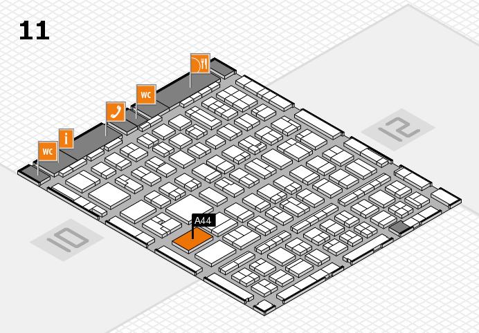BEAUTY DÜSSELDORF 2017 Hallenplan (Halle 11): Stand A44