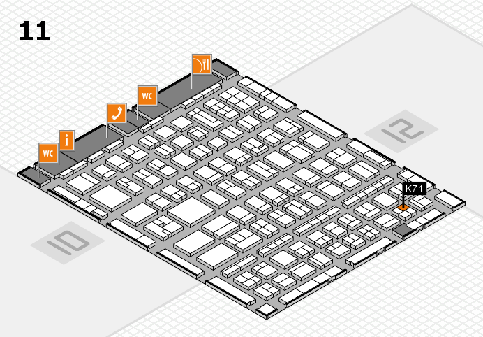 BEAUTY DÜSSELDORF 2017 hall map (Hall 11): stand K71