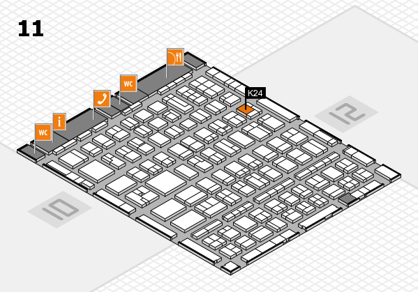 BEAUTY DÜSSELDORF 2017 hall map (Hall 11): stand K24