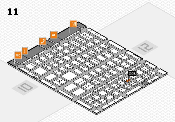 BEAUTY DÜSSELDORF 2017 hall map (Hall 11): stand G68