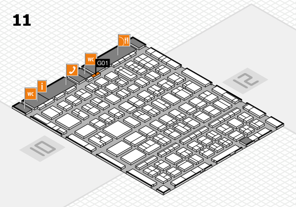 BEAUTY DÜSSELDORF 2017 hall map (Hall 11): stand G01