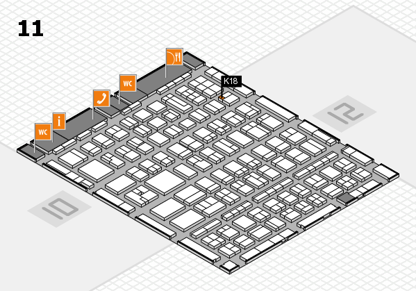 BEAUTY DÜSSELDORF 2017 hall map (Hall 11): stand K18