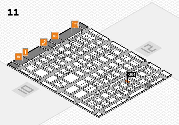 BEAUTY DÜSSELDORF 2017 hall map (Hall 11): stand G64