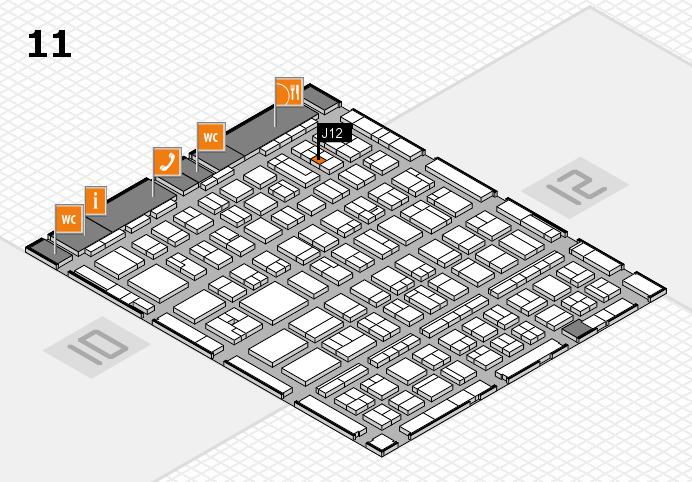 BEAUTY DÜSSELDORF 2017 hall map (Hall 11): stand J12