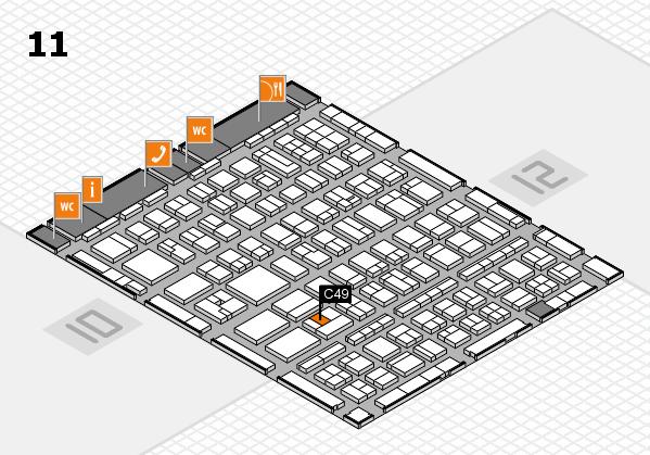 BEAUTY DÜSSELDORF 2017 hall map (Hall 11): stand C49