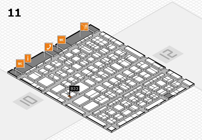 BEAUTY DÜSSELDORF 2017 hall map (Hall 11): stand B33
