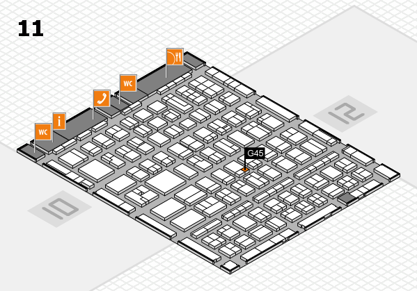BEAUTY DÜSSELDORF 2017 hall map (Hall 11): stand G45