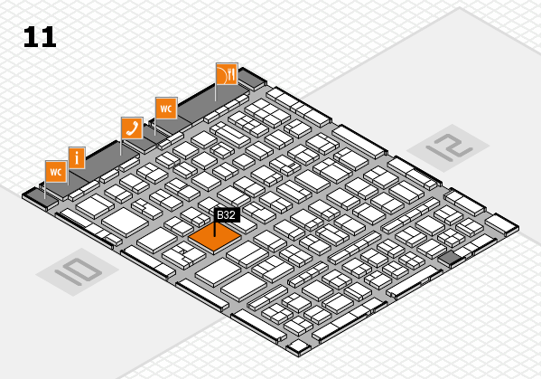 BEAUTY DÜSSELDORF 2017 hall map (Hall 11): stand B32