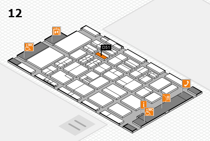 BEAUTY DÜSSELDORF 2017 hall map (Hall 12): stand D51