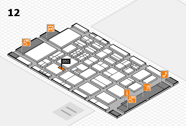 BEAUTY DÜSSELDORF 2017 Hallenplan (Halle 12): Stand B50