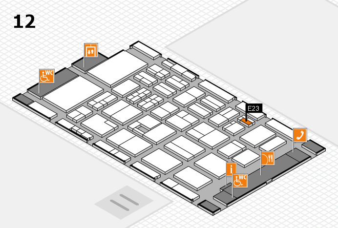 BEAUTY DÜSSELDORF 2017 Hallenplan (Halle 12): Stand E23
