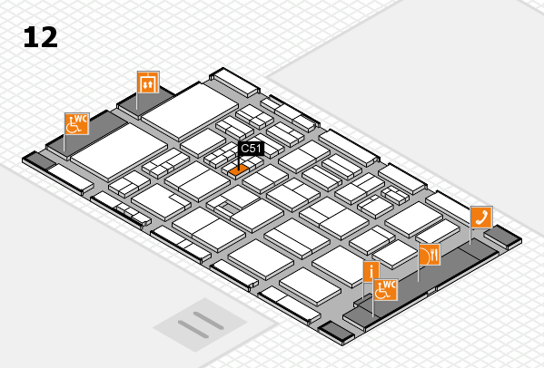 BEAUTY DÜSSELDORF 2017 hall map (Hall 12): stand C51
