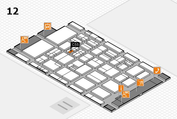 BEAUTY DÜSSELDORF 2017 Hallenplan (Halle 12): Stand C55