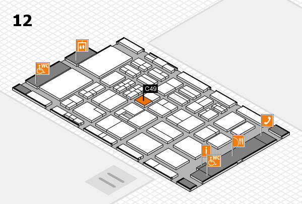 BEAUTY DÜSSELDORF 2017 hall map (Hall 12): stand C49