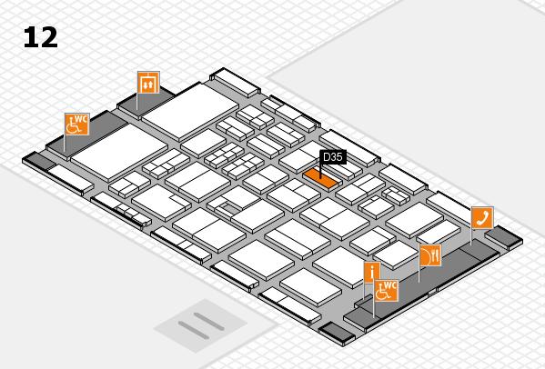 BEAUTY DÜSSELDORF 2017 hall map (Hall 12): stand D35