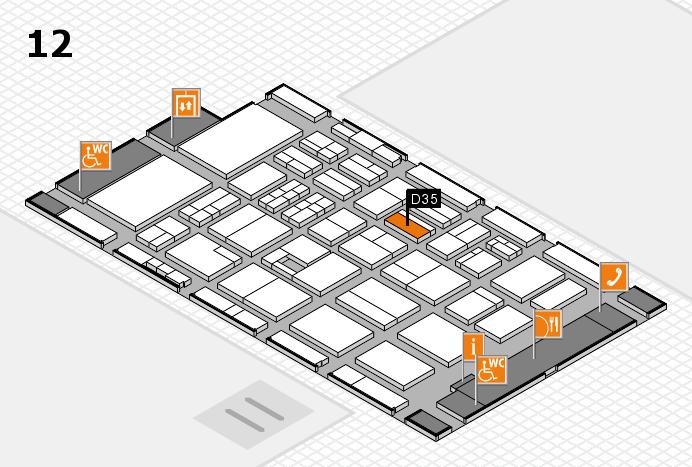 BEAUTY DÜSSELDORF 2017 Hallenplan (Halle 12): Stand D35