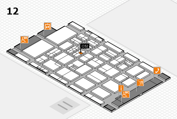 BEAUTY DÜSSELDORF 2017 hall map (Hall 12): stand C52