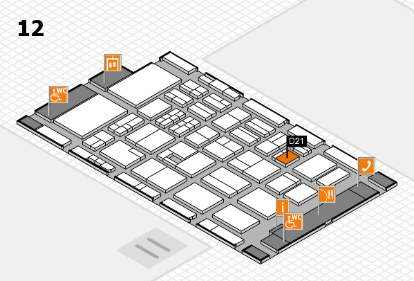 BEAUTY DÜSSELDORF 2017 hall map (Hall 12): stand D21