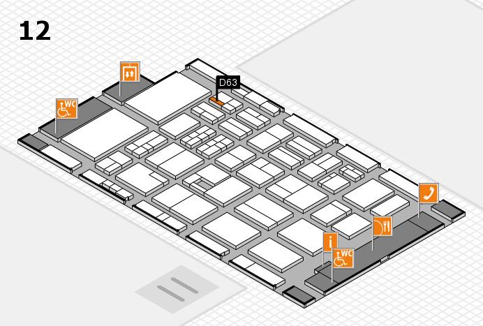 BEAUTY DÜSSELDORF 2017 Hallenplan (Halle 12): Stand D63