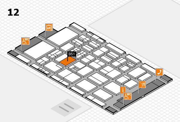 BEAUTY DÜSSELDORF 2017 hall map (Hall 12): stand B51