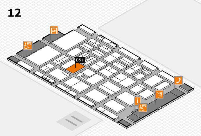 BEAUTY DÜSSELDORF 2017 Hallenplan (Halle 12): Stand B51